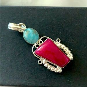 Ss pendant with natural stones